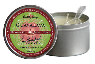 3 In 1 Guavalava Suntouched Candle With Hemp - 6.8 oz. Earthly Body Candles