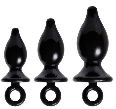 Adam and Eve Anal Trainer  Kit - Black Adam and Eve Anal Toys & Stimulators Anal Plugs