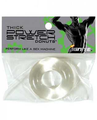 Thick Power Stretch Donuts -  Clear