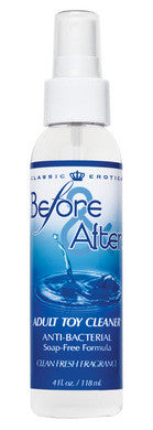 Before And After Anti - Bacterial Toy Cleaner - 4 oz. Classic Erotica Toy Cleaners