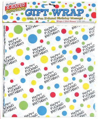 X-Rated Birthday Gift Wrap Paper Candyprints Gift Wrapping Paper