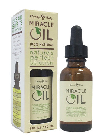 Earthly Body Miracle Oil- 1 oz. Earthly Body Massage Oils and Creams