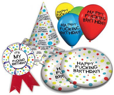 X-Rated Birthday Party Pack Candyprints Gag Gifts & Novelties