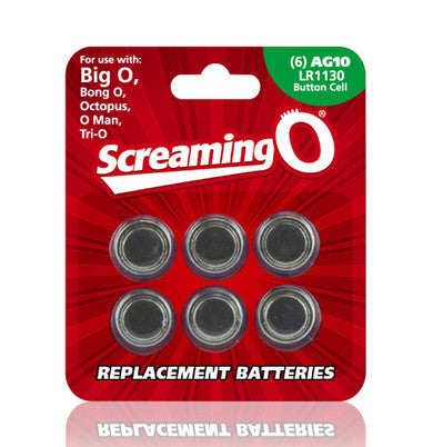 Replacement Batteries AG10 LR1130-Button Cell Screaming O Batteries