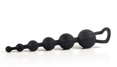 Adam And Eve Silicone Butt Bead - Black Adam and Eve Anal Toys & Stimulators