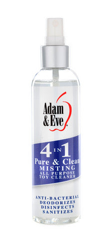 Adam And Eve 4 In 1 Pure And Clean Misting Toy Cleaner - 2 oz. Adam and Eve Spray