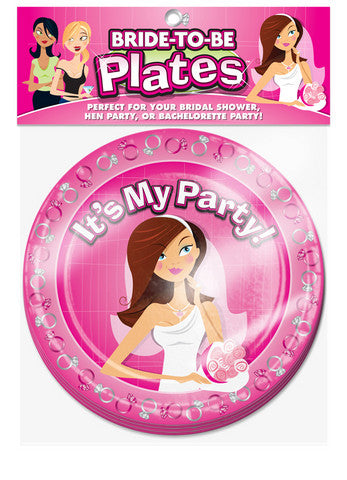 Bride-To-Be Plates - 10 Count Ball and Chain Bachelorrette