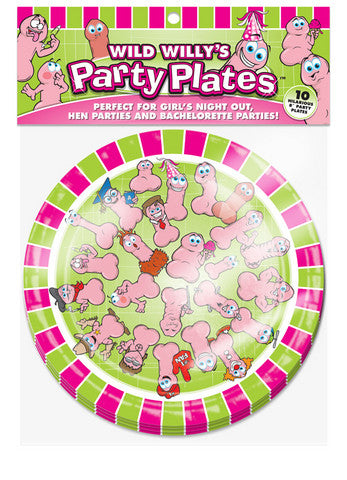 Wild Willys Party Plates - 10 Count Ball and Chain Bachelorrette