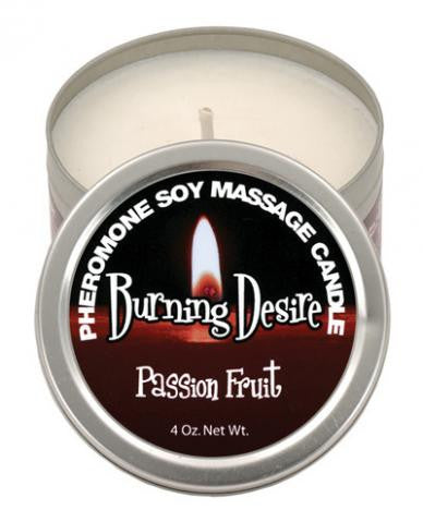 Burning Desire, Passion Fruit  Soy Massage Candle - 4 oz. Classic Erotica Candles Massage