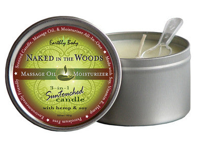 3-in-1 Naked In The Woods Suntouched Candle With Hemp - 6.8 oz. Earthly Body Lubricants, Creams & Glides Scented