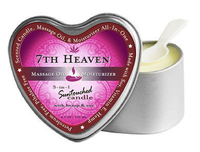 3-In-1 7Th Heaven Suntouched Candle With Hemp Earthly Body Candles Massage Oils and Creams