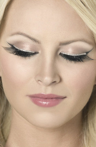 Glitter Eyelashes - Black Fever Lingerie