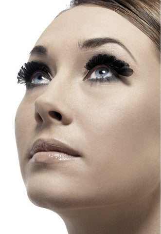 Small Feather Eyelashes - Black Fever Lingerie Eyelashes