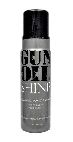 Gun Oil Shine Foaming Toy Cleanser - 8 oz. Gun Oil Pink Lubricant Toy Cleaners