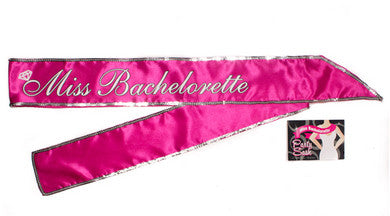 Miss Bachelorette Sash - Hot Pink Little Genie Bachelorrette