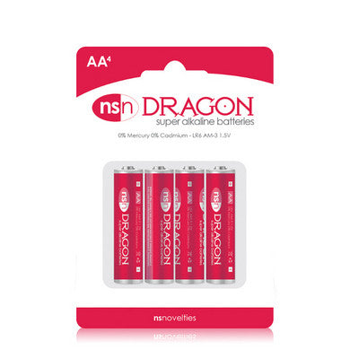 Dragon - Alkaine Batteries - AA - 4 Pack Nsnovelties Batteries