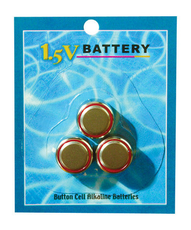 1.5 V Watch Battery - 3 Pack Pipedream AG-13 Watch Battery