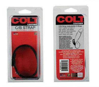 Colt Adjustable Leather Cock And Ball Strap - 3 Snap