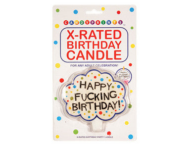 X-Rated Birthday Candle Candyprints Gag Gifts & Novelties Supplies