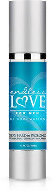 Endless Love for Men Stay  Hard and Prolong Water- Based Lubricant - 1.7 Oz Body Action Lubricants, Creams & Glides daily deals, Water Based Lubricants