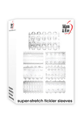 Adam and Eve Super-stretch  Sleeves - Clear Adam and Eve Penis Extension & Sleeves