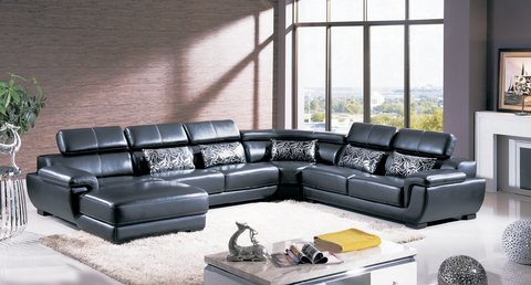 Designer Quality Leather 4 Pcs Sectional Sofa
