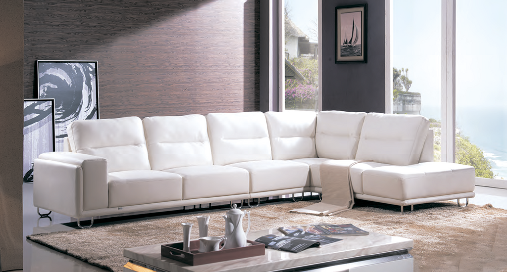 Leather Sectional Contemporary Style Sofa