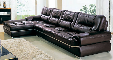 2 Pieces Sectional Leather Sofa
