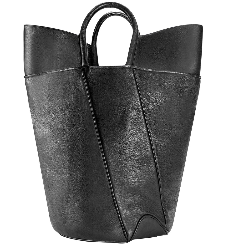 Elevated leather tote, italian calf leather tote, luxury leather tote