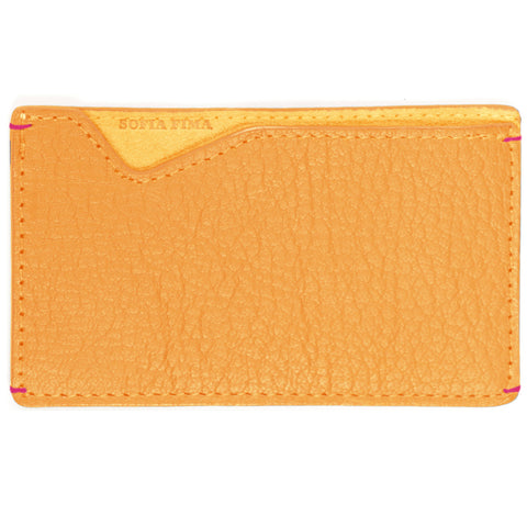 marigold card case, french leather card case, luxury card case