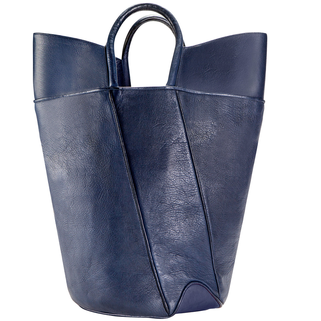 Elevated leather tote, italian calf leather tote, leather tote