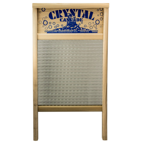 Crystal Cascade Glass Washboard