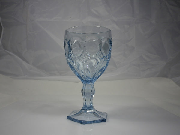 Fostoria Moonstone Light Blue Wine Glass Stem # 2882