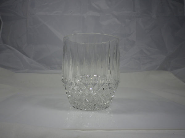 Fostoria Stratton Crystal Rocks Double Old Fashioned Glass