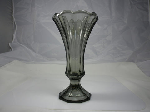 Fostoria Virginia Smokey Grey Flower Vase