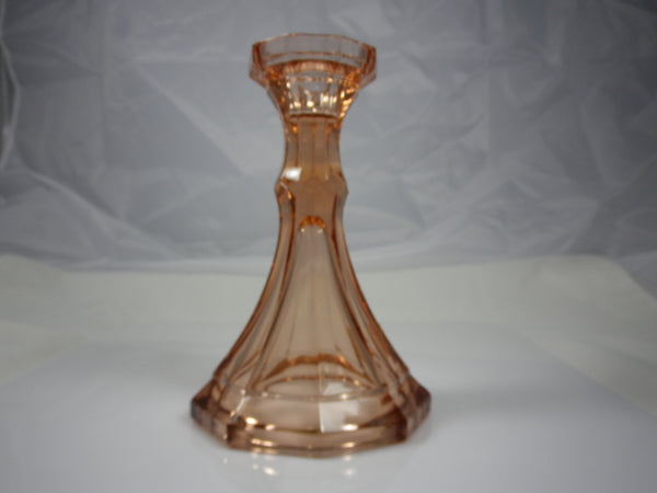 Fostoria Virginia Peach Candlestick Holder
