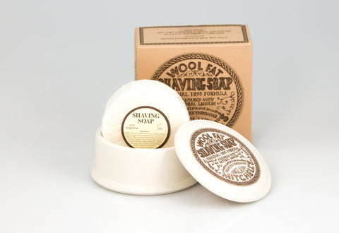 Mitchell's Wool Fat Shaving Soap & Dish