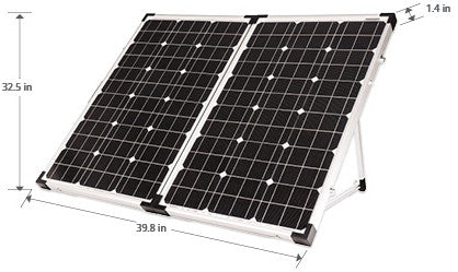 120 watt folding solar panel kit for RV