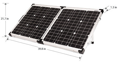 80 watt folding solar panel kit for RV