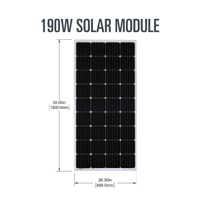 Overlander Expansion Solar Kit (190 watts)