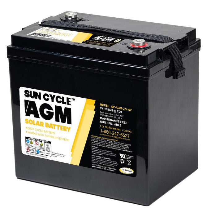 6 Volt Sun Cycle AGM Solar Battery