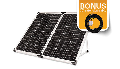 120 watt Portable Solar Kit w/ Bonus