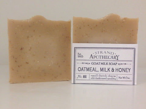 Oatmeal, Milk + Honey Goat Milk Soap, 5 oz.