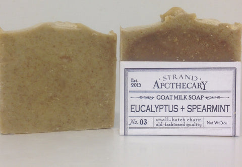 Eucalyptus + Spearmint Goat Milk Soap, 5 oz.