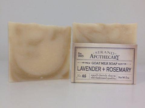Lavender + Rosemary Goat Milk Soap, 5 oz