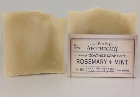 Rosemary + Mint Goat Milk Soap, 5 oz