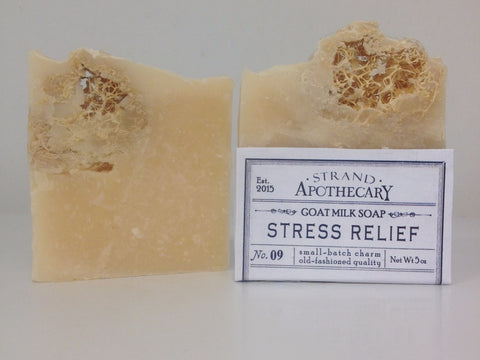 Stress Relief Goat Milk Soap, 5 oz.