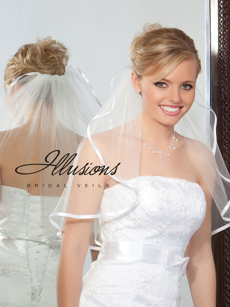 Illusion Bridal Shoulder Length 1-201-3R