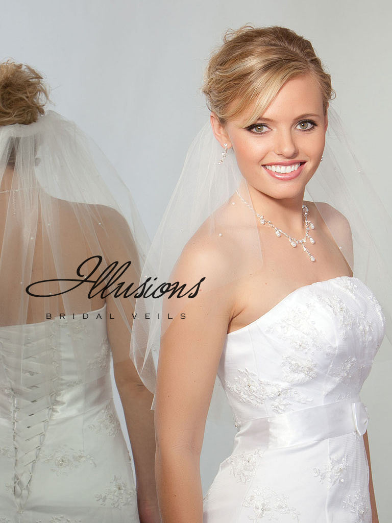 Illusion Bridal Shoulder Length  1-201-CT-P