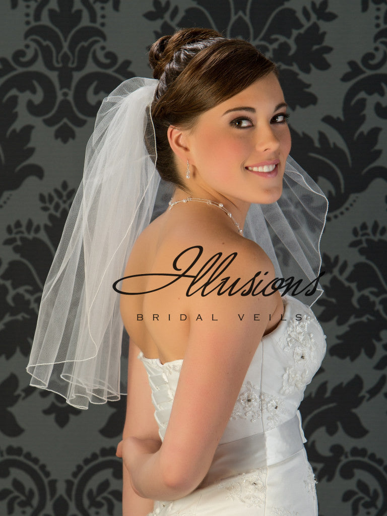 Illusion Bridal Shoulder Length 1-201-C
